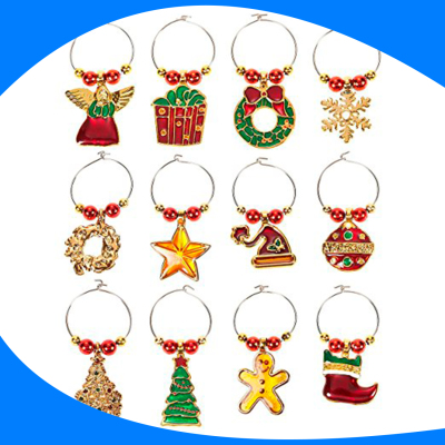 Colgantes Navideños (Wine Glass Charms)