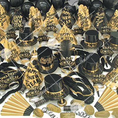 100p Sombreros Sensacion Dorada (Fiesta de fin de año) GS0197