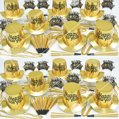 50p Sombreros de Fiesta de Fin de Año (Dorado) PG0143