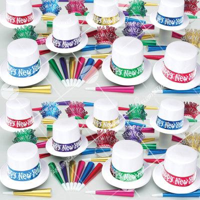50p Sombreros de fiesta de fin de año (Blanco Mistico) MB0146