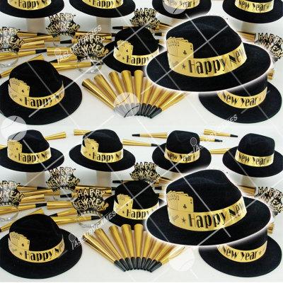 50p Sombreros de fiesta de fin de año (Casino Dorado) VG0149G