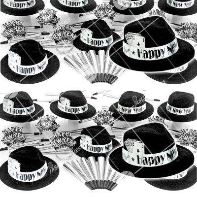 50p Sombreros de fiesta de fin de año (Casino Plateado) VP0149P