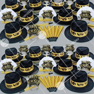 50p Sombreros de fiesta de fin de año (Ejecutivo Dorado) ED0153