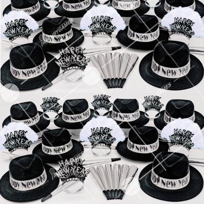 50p Sombreros de fiesta de fin de año (Ejecutivo Plateado) EP0154