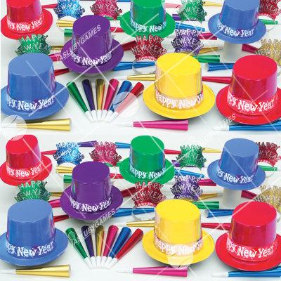 50p Sombreros de fiesta de fin de año (Surtido Mistico) VMS0155