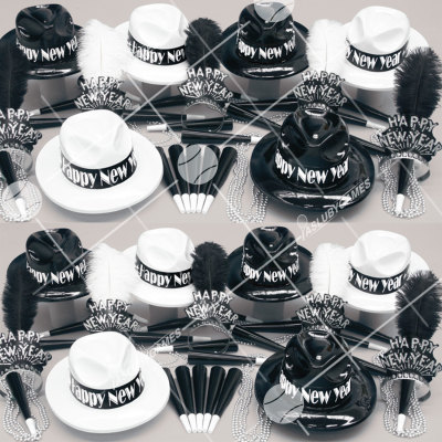 50p Sombreros de fiesta de fin de año (Gerra en B/N) BNP0167