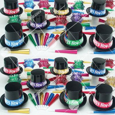 50p Sombreros de fiesta de fin de año (Negro Mistico) NMP0168