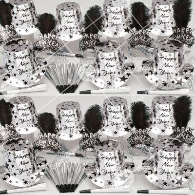 50p Sombreros de fiesta de fin de año (Etrella Plateada) SS0182S