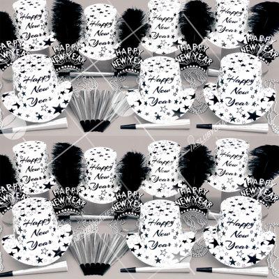 50p Sombreros de fiesta de fin de año (Estrella Blanca) WS0183