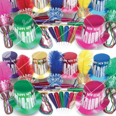 50p Sombreros de fiesta de fin de año (Noche en Rascacielos) NRC0188