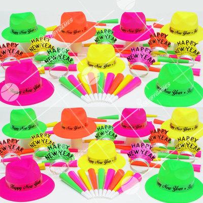 50p Sombreros de fiesta de fin de año (Neon 4:20) NE61399