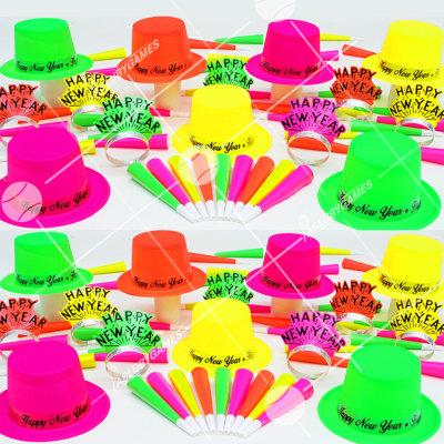 50p Sombreros de fiesta de fin de año (Neon 4:30) NE61599