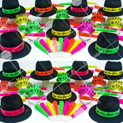 50p Sombreros de fiesta de fin de año (Neon 4:50) NE61799
