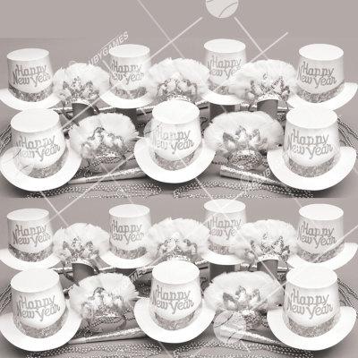 50p Sombreros de fiesta de fin de año (Elegancia de Media Noche S) EMW01001S