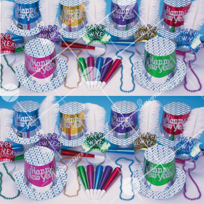 50p Sombreros de fiesta de fin de año (Diamante de Fin de Año A) DA01005A
