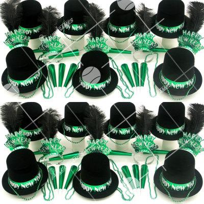 50p Sombreros de fiesta de fin de año (Gema Verde) GV01011