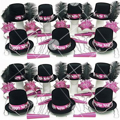 50p Sombreros de fiesta de fin de año (Gema Magenta) GM01016