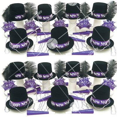 50p Sombreros de fiesta de fin de año (Gema Purpura) GP01017