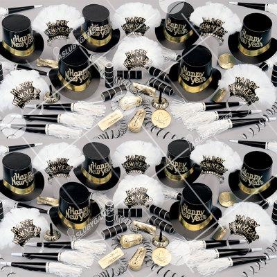 50p Sombreros de fiesta de fin de año (Oro negro) NG01018