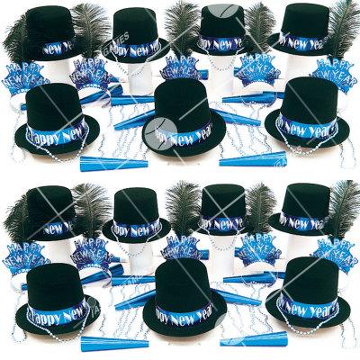 50p Sombreros de fiesta de fin de año (Gema Azul) GA01019