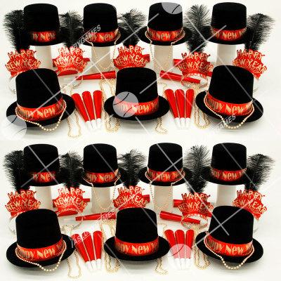 50p Sombreros de fiesta de fin de año (Gema Roja) GR01028