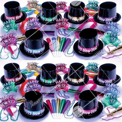 50p Sombreros de fiesta de fin de año (MID END) MED01034