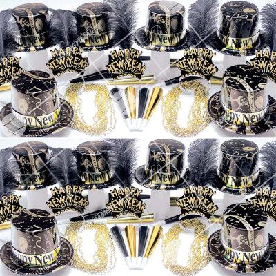 50p Sombreros de fiesta de fin de año (Salpicadura de Oro) SDG01041