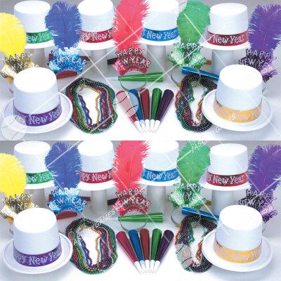 50p Sombreros de fiesta de fin de año (Hielo Polar) HPW01043