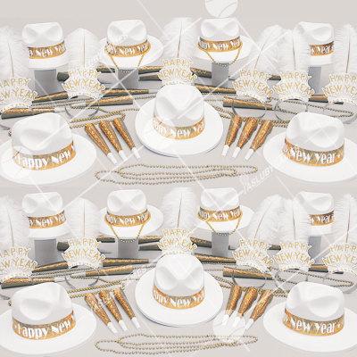 50p Sombreros de fiesta de fin de año (Oro Brillante) OB01048G