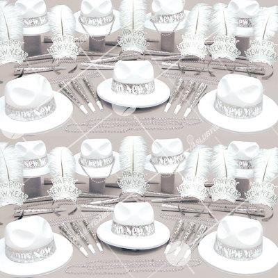 50p Sombreros de fiesta de fin de año (Plata Brillante) OP01048S