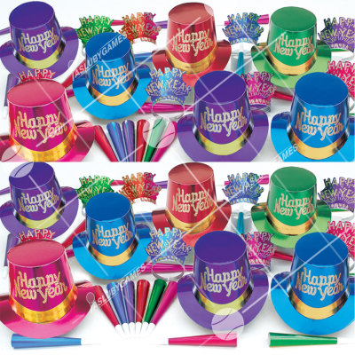 50p Sombreros de fiesta de fin de año (Elegance) EL01049