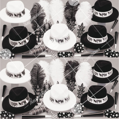 50p Sombreros de fiesta de fin de año (El rugido de los 20´s) RV01056