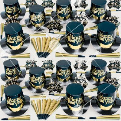 50p Sombreros de fiesta de fin de año (Polvo Dorado) PD01072