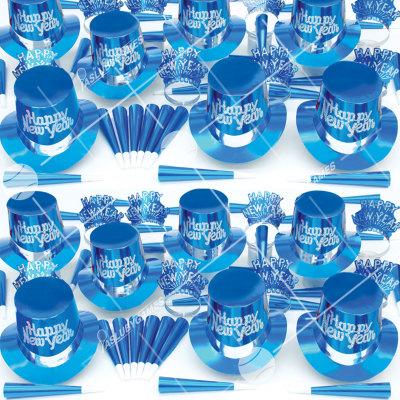 50p Sombreros de fiesta de fin de año (Azul Solido) AA01074