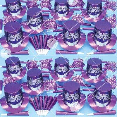 50p Sombreros de fiesta de fin de año (Purpura Solido) PS01075