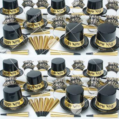 50p Sombreros de fiesta de fin de año (Eclipse Dorado) ED01081