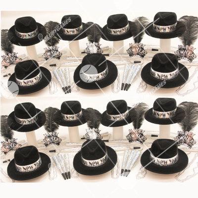 50p Sombreros de fiesta de fin de año (Prisma Plata) PRSP01086