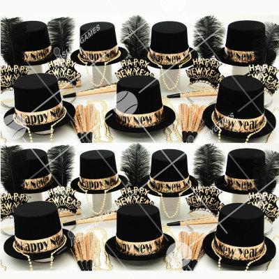 50p Sombreros de fiesta de fin de año (Oro Ostentoso) OO01087