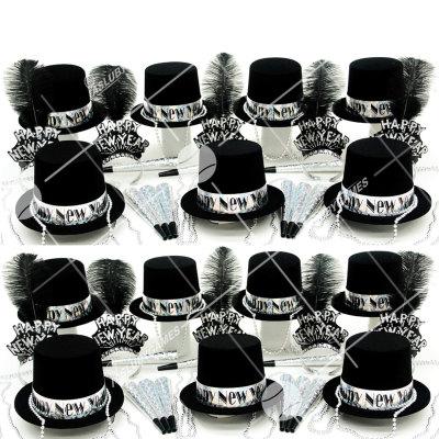 50p Sombreros de fiesta de fin de año (Plata Ostentosa) PO01088