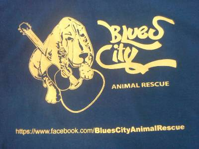 Blue- Blues City Animal Rescue T-shirt Adult Sizes- S, M, L, XL