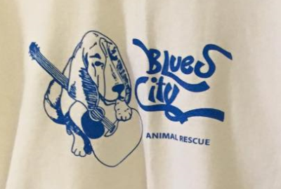 White- Blues City Animal Rescue T-shirt Adult Sizes- S, M, L, XL