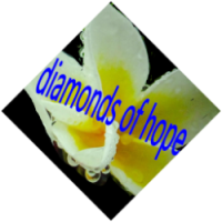 Diamonds Raindrops yellow white
