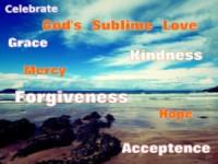 The ocean God's Love forgiveness hope acceptance