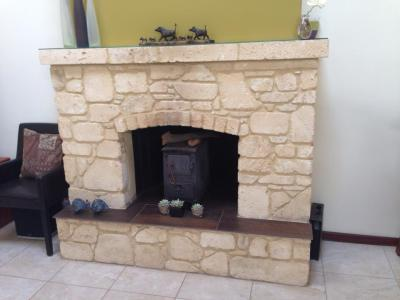 Natural Limestone with a flush face
