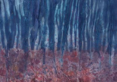 Autumn Birch Trees, Evening, Jane Cornwell