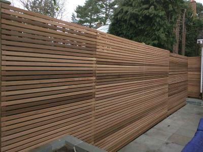 Red cedar fencing