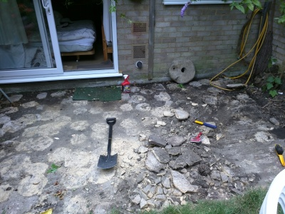 Old Buried Patio