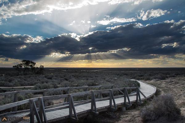 Board walk at Mungo National Park