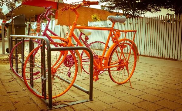 Vibrant & colourful street art at Balranald