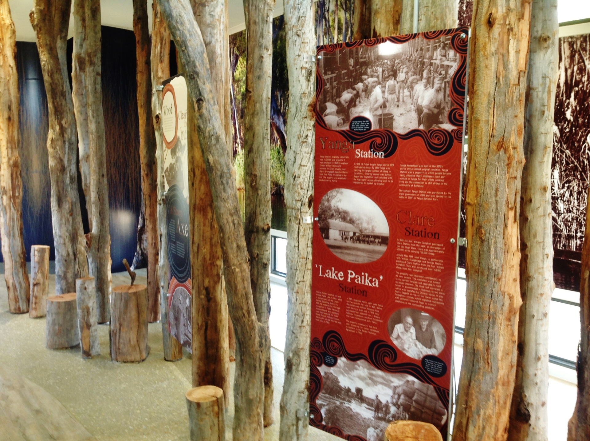 History and Heritage at the Interpretive Pavilion located at the Balranald Discovery Centre